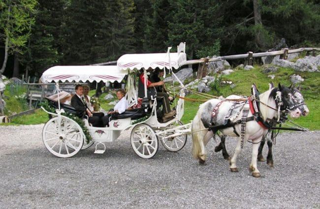 Heiraten auf der Oberhofalm in Filzmoos - Pferdekutsche